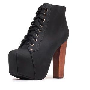 Jeffrey Campbell Lita-Platform heel lace up bootie